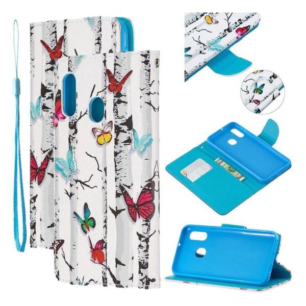 Wonderland Samsung Galaxy A20e Fodral - Färgade fjärilar