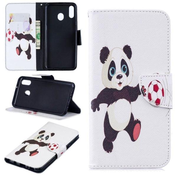 Wonderland Samsung Galaxy M20 flip case - Panda Playing Foot