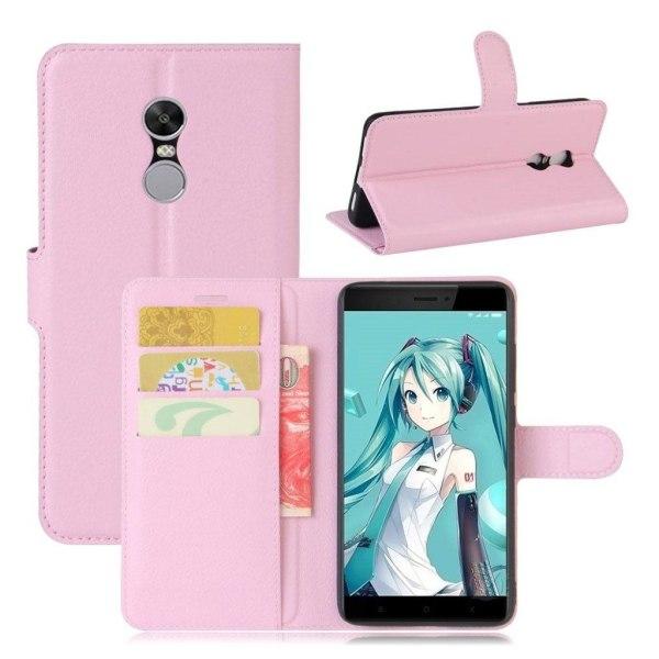 Xiaomi Redmi Note 4 Enfärgat fodral med plånbok - Ljus rosa