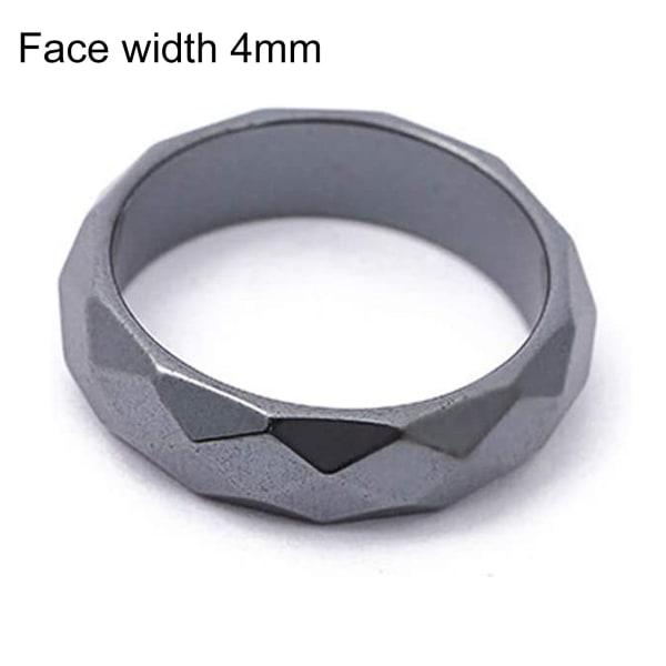 Finger geometrisk yta Trendig svart rund ring black 4T US 10