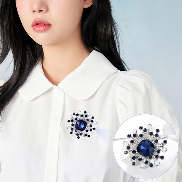 Glänsande elegant blomma fjäril geometri Rhinestone brosch C