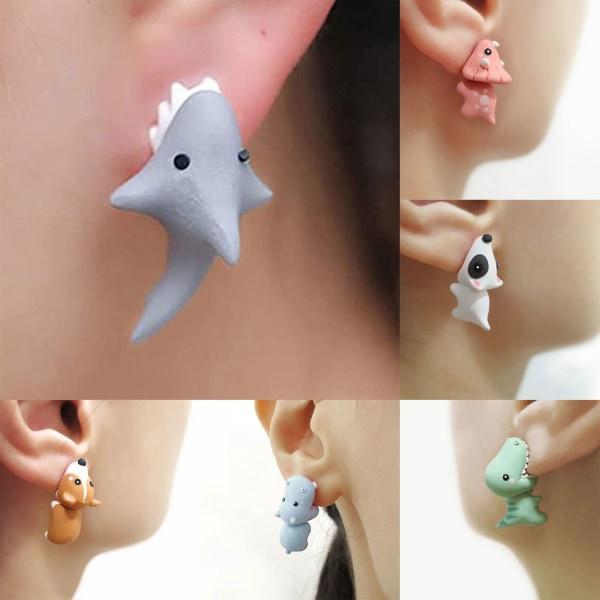 3D djurform kvinnor örhängen legering tecknade örhängen Blue3