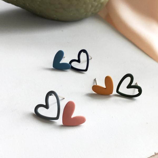 1 par eleganta hjärtformade snygga hjärtörhängen Blue Green