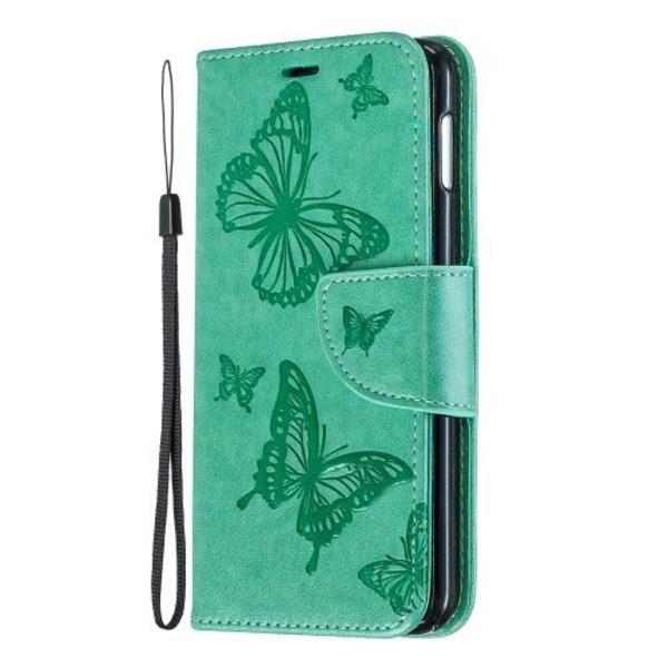Fodral Samsung Galaxy S10 edge relieff fjäril mintgrön Grön