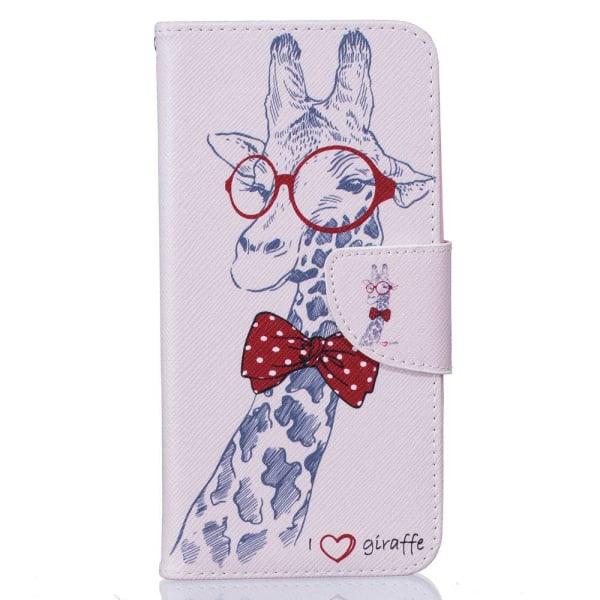 Huawei Honor 8 plånboksfodral wallet - Giraff Rosa