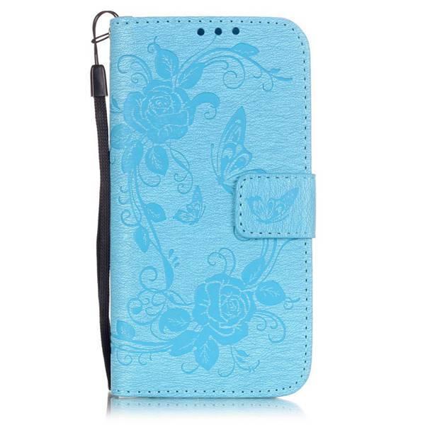 iPhone 7/8 fodral relief fjäril Ljusblå Ljusblå