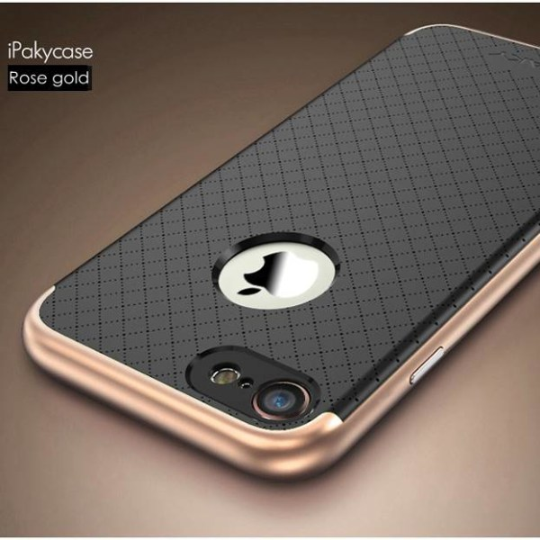 iPhone 7/8 iPAKY hybridskal svart-roséguld Svart