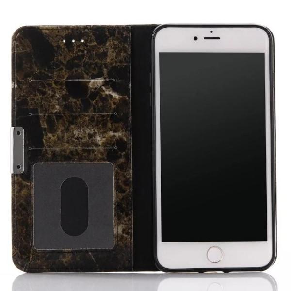 iPhone 7/8 plånboksfodral wallet - Marmor brun Brun