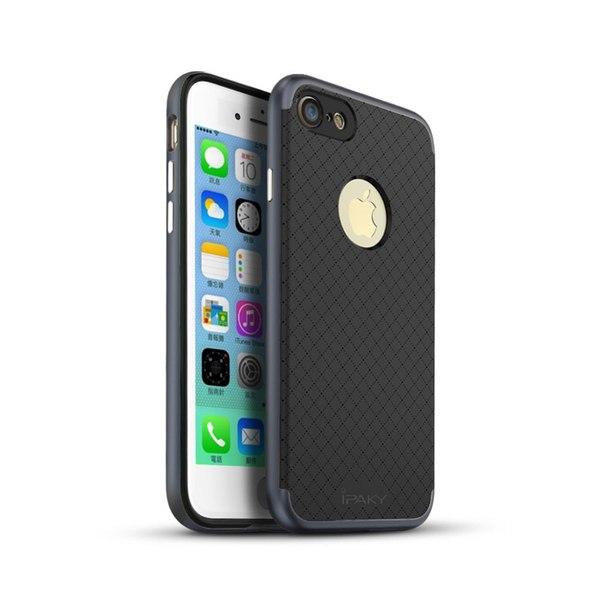 iPhone 7/8 PLUS iPAKY hybridskal svart-grå Svart
