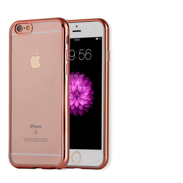 iPhone 7/8 skal soft TPU flexi frame roségold Transparent