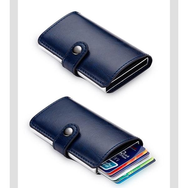 Korthållare RFID-skydd Plånbok Automatisk Pop-up - Blå Marinblå