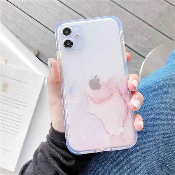 Mobilskal Iphone11 ljusrosa marmor Röd
