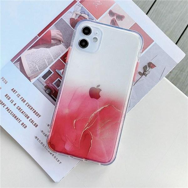 Mobilskal Iphone11 röd marmor Röd