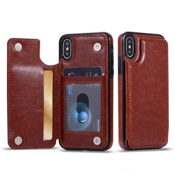 Mobilskal med ficka Iphone7/8 brun Brun