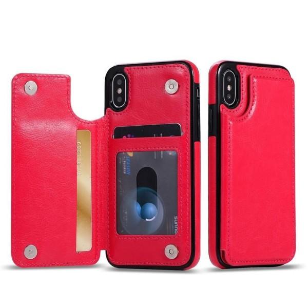 Mobilskal med ficka Iphone7/8 rosaröd Rosa