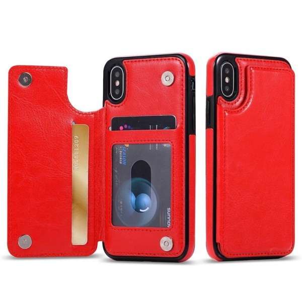 Mobilskal med ficka Iphone7/8 röd Röd