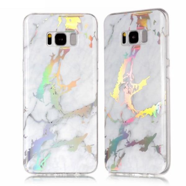 Samsung Galaxy S8 plus skal TPU electrical marmor White Vit