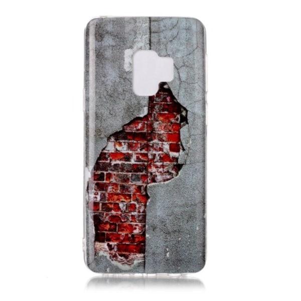 Samsung Galaxy S9 skal soft TPU Red brick grå