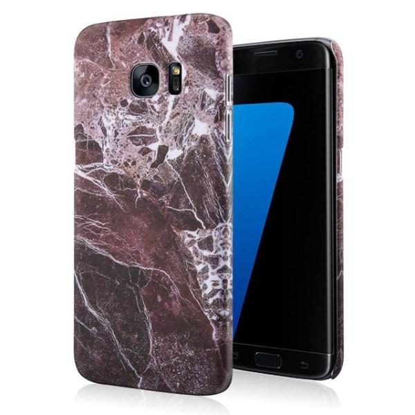 Skal till Samsung Galaxy S7 edge marmor rödbrun Brun