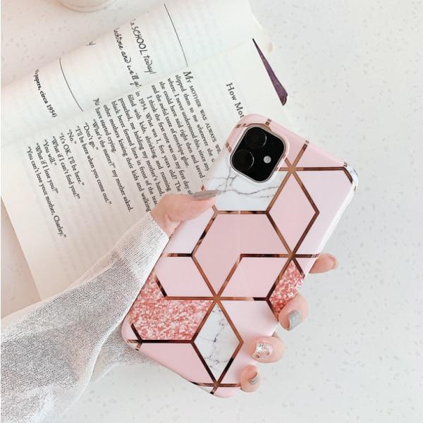 Marmorskal till iPhone 11 rosa