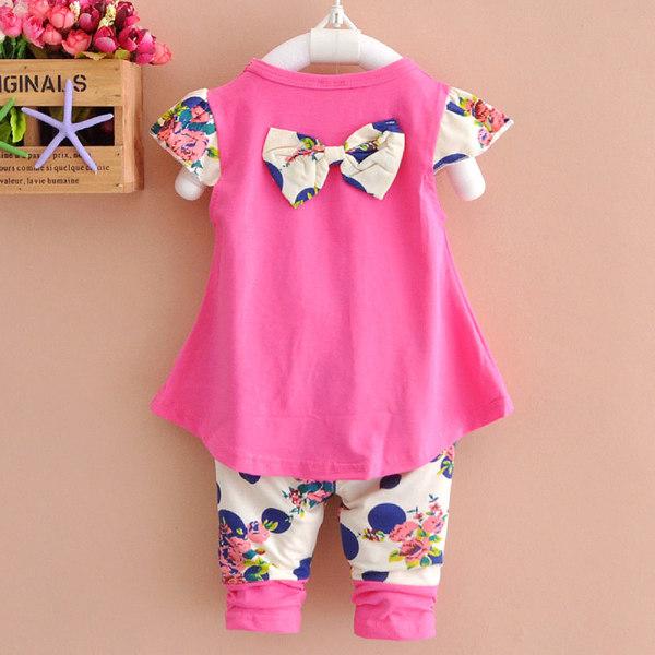 2st Barn Flickor Kläder Sommar Bomull Outfits Topp Korta Byxor