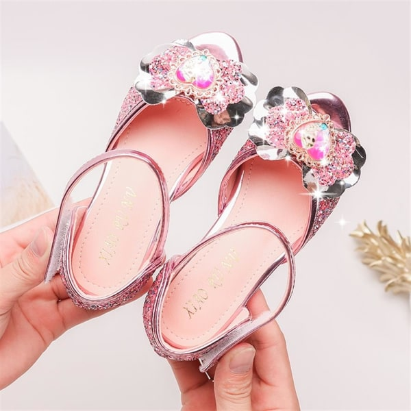 Kids Girls Party Princess Aisha Shoes Summer Fish Mouth Sandals Pink 31