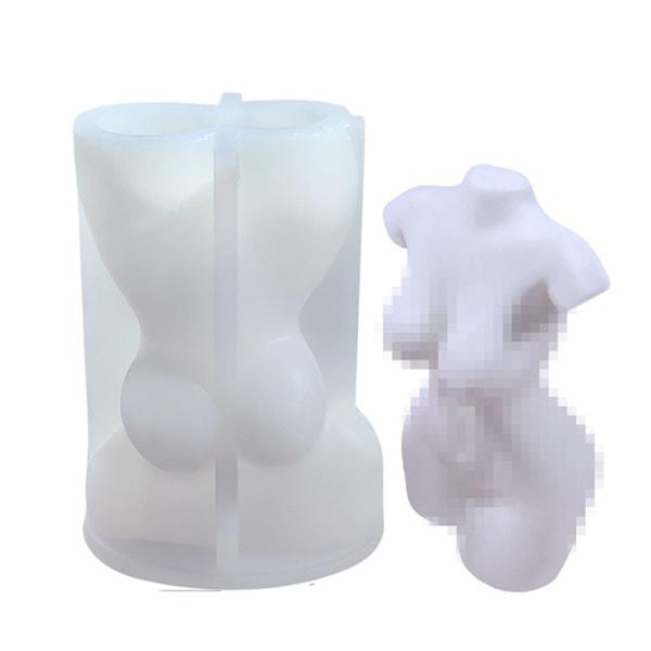 DIY 3D Silikonljusform Kvinnligt ljus som gör tvålform 2(s)