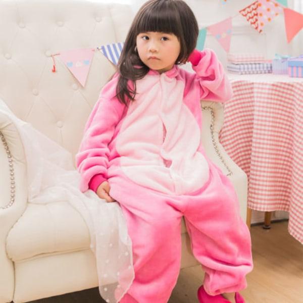 Animal Pyjama Kids Adult Cute Cartoon Hooded Cosplay Nightwear pink 115cm