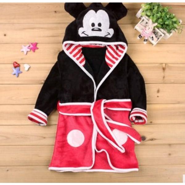 Baby Kids Girls Boy Badrock Mickey Minnie Mouse-klänning Nattkläder Black Mickey 100CM