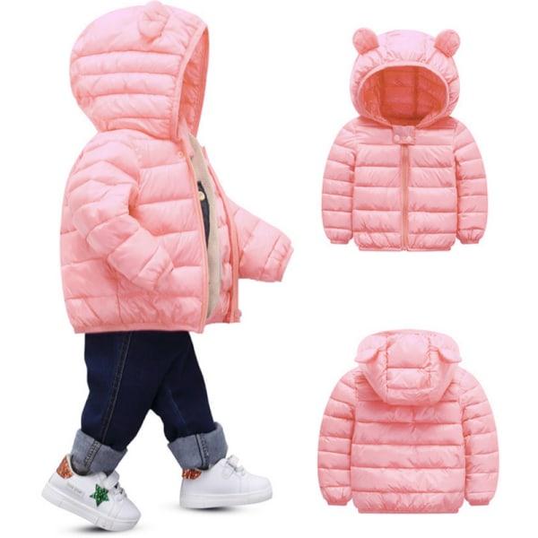 Baby Kids Pojkar Flicka Hooded Jacka Coats Zip Snowsuit Ytterkläder Royal blue 80cm