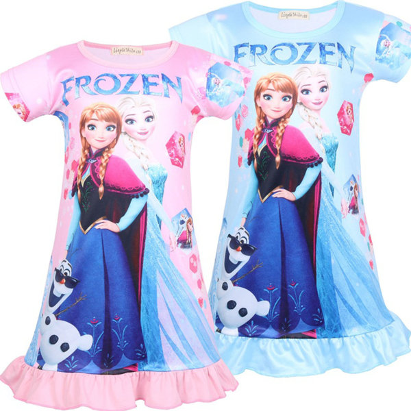 Barn Kid Girl Nightdress Frozen Aisha Anna Pattern Kjol pink 110cm