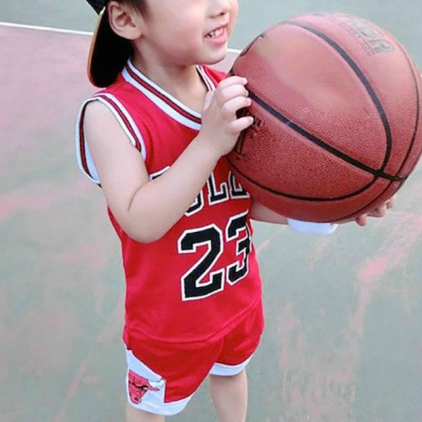 Barn Kid Sommar Kortärmad Basketkläder Kostym Casual black 140cm