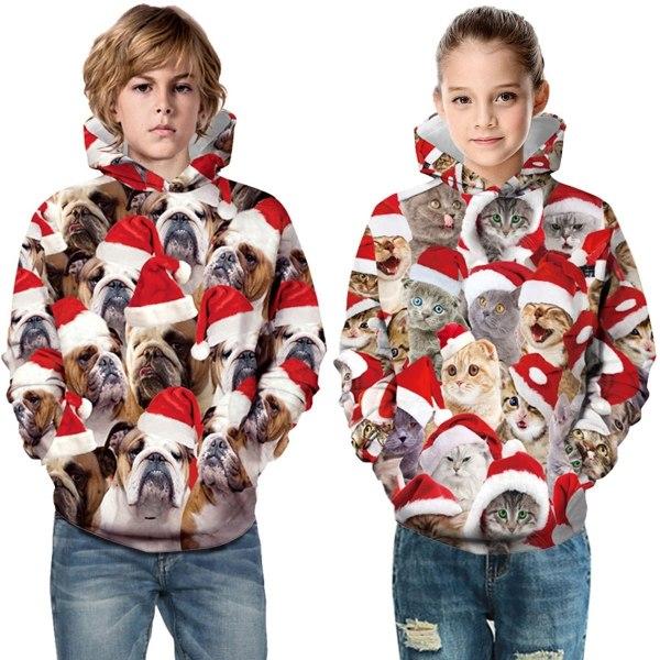 Christmas Cat Digital Print Children s animalprint XS
