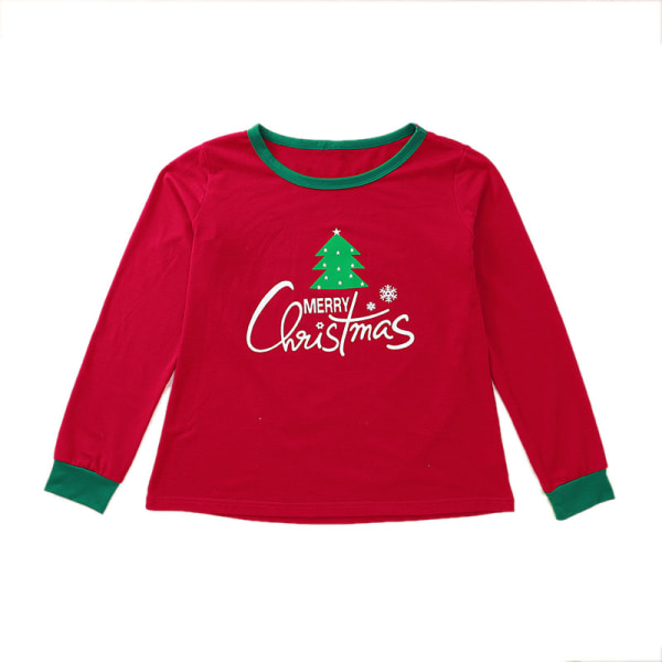Mode jul Föräldra-barn bär hemma varma pyjamas kvinnor Kid 130 cm