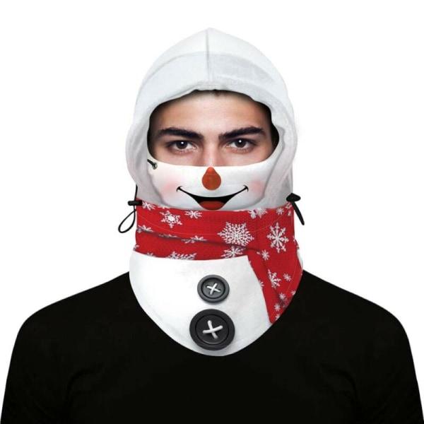 Jul Unisex Santa Claus Balaclava Face Cover Snood Xmas Men White Beard Santa