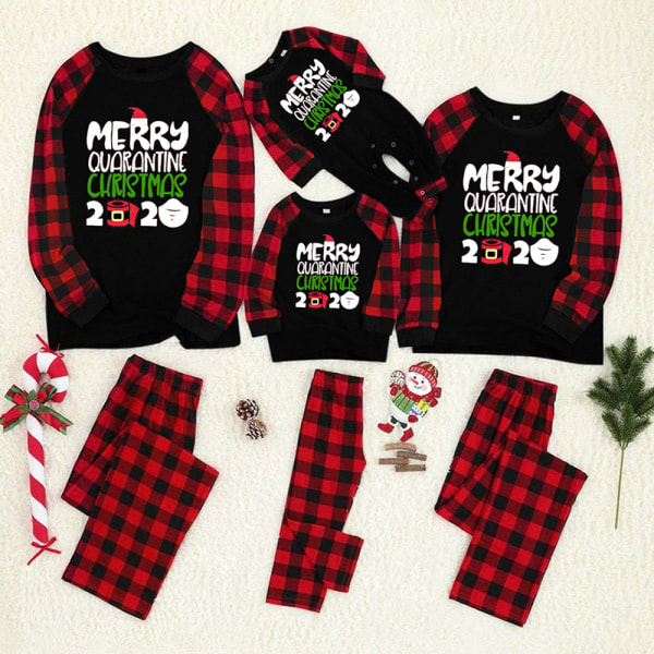 2020 Julpyjamas Familj Vuxna Barn Baby Xmas Nightwears baby 18M