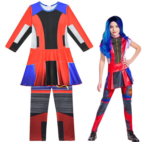 Descendants 3 Evie Kids Girls Party Party Cosplay-kostymer