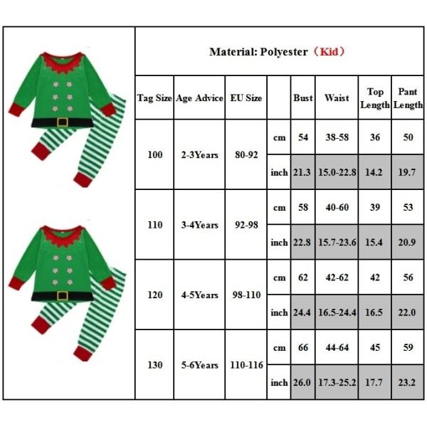 Söt jultryck föräldra-barn pyjamas lång man XL