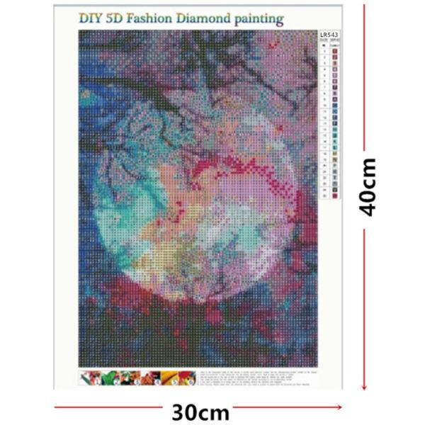5D Moon Full Drill Diamond Painting Stitch Kits Art Wall Decor