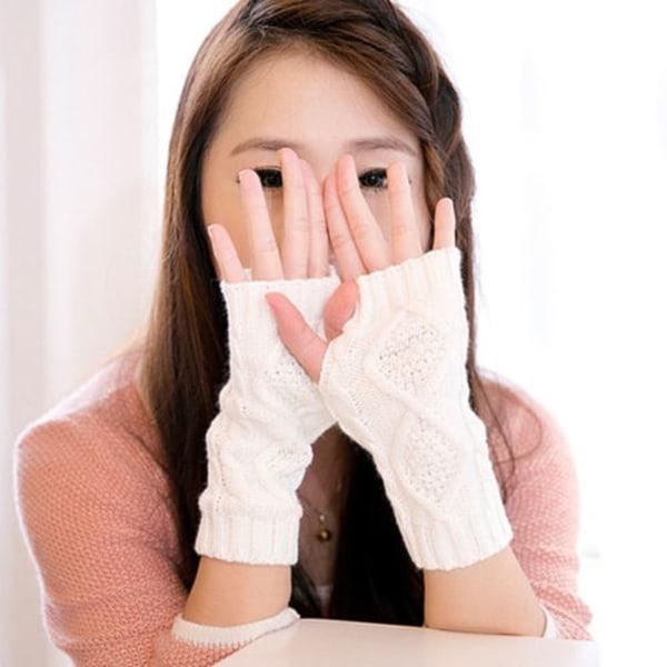 Mode All-match populära diamantformade handskar med halvfinger dark grey