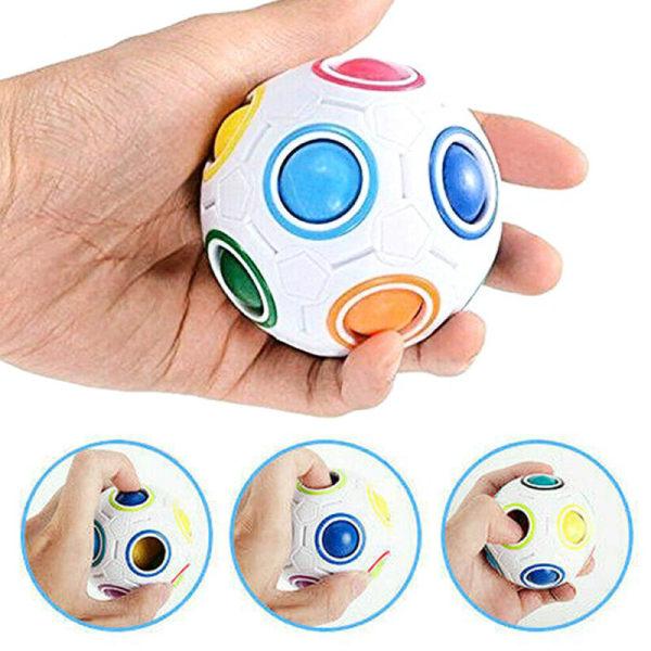 stressboll Rainbow Magic Puzzle Cube Fidget Toys Kids Gift