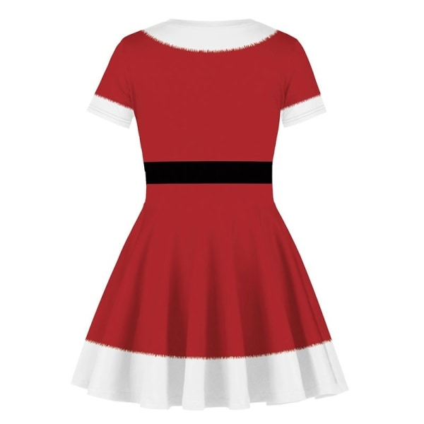 Girl Kids Christmas Party Dress Xmas red S