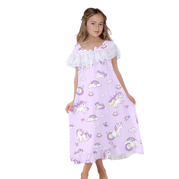 Girls Kid Nightie Cartoon Princess Pyjamas Nightwear Night Dress Multicoloured M