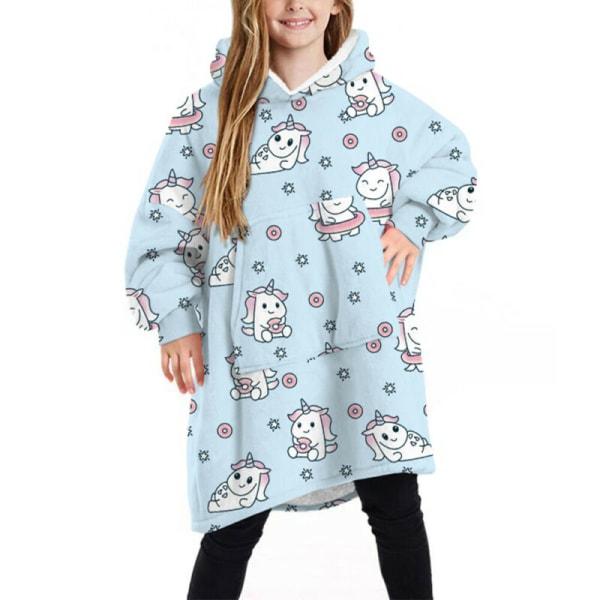 Kid Children Blanket Sweatshirt Soft Warm Blanket Hoodie Winter Red Polka Dot
