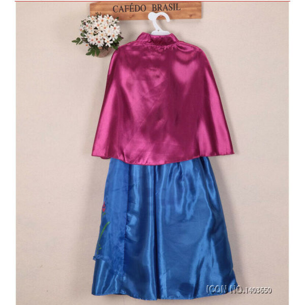 Barnflickor Anna klänningar Dräkt Fake Vest klänning 120cm