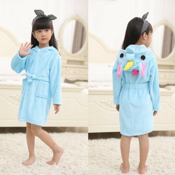 Barnbadrock Djur Unicorn Pyjamas Nattkläder blue 120 cm
