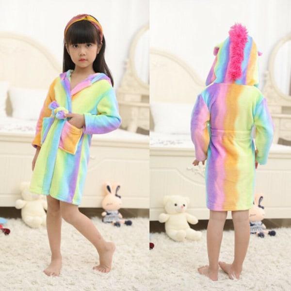 Barnbadrock Djur Unicorn Pyjamas Nattkläder rainbow 120 cm