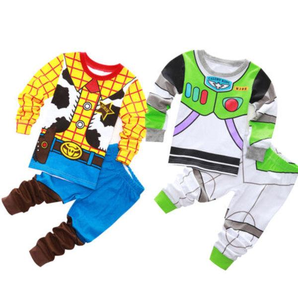 Kids Boys Story Buzz Lightyear och Woody Pyjamas Underkläder Set Buzz Lightyear 95cm