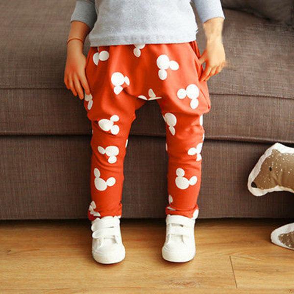 Kid Printed Pant Boys Girls Lovely Pant Byxor Outwear red 100cm