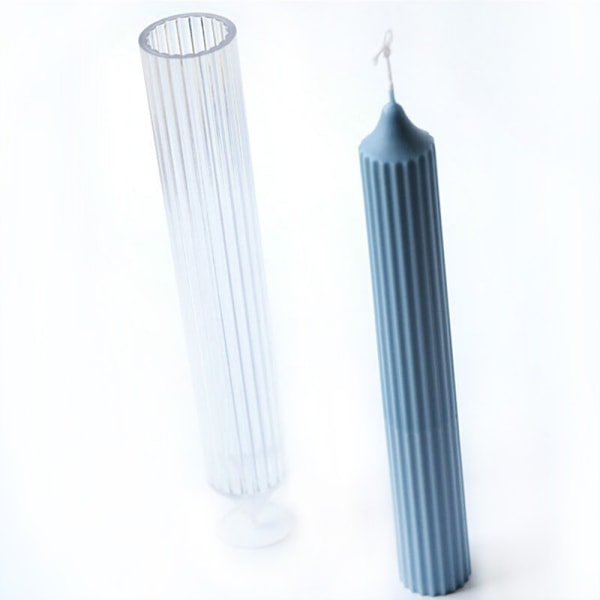 DIY långpoliga handgjorda ljusformade ornament Silikonform 3.45x15.35cm
